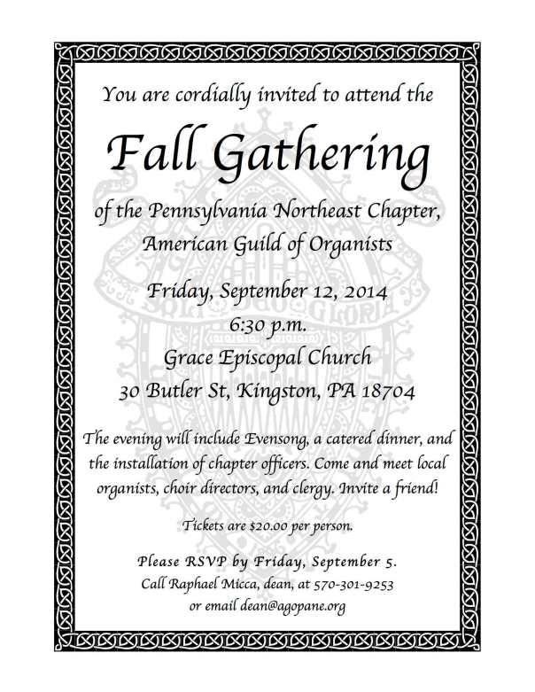Fall Gathering 2014