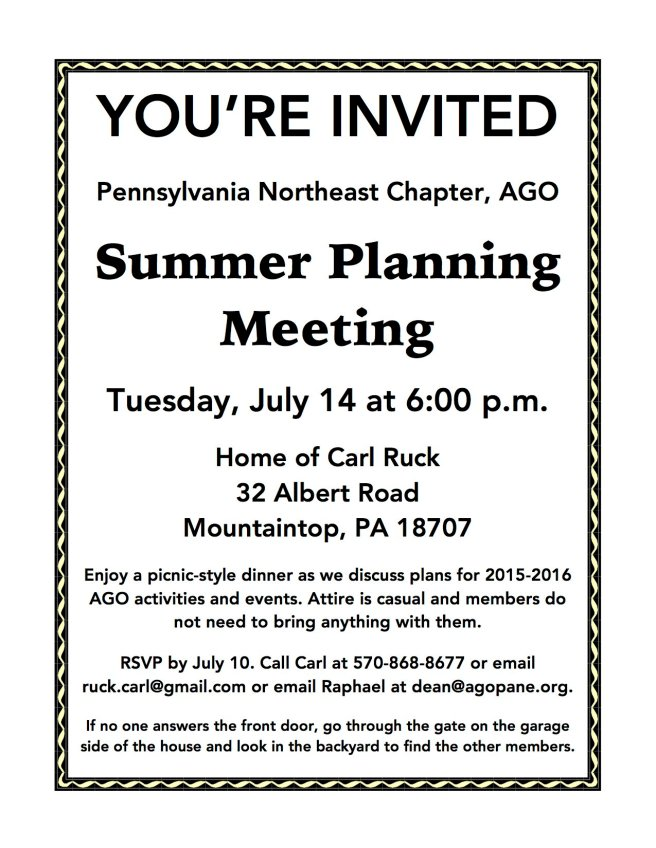 Summer Planning Meeting Flyer