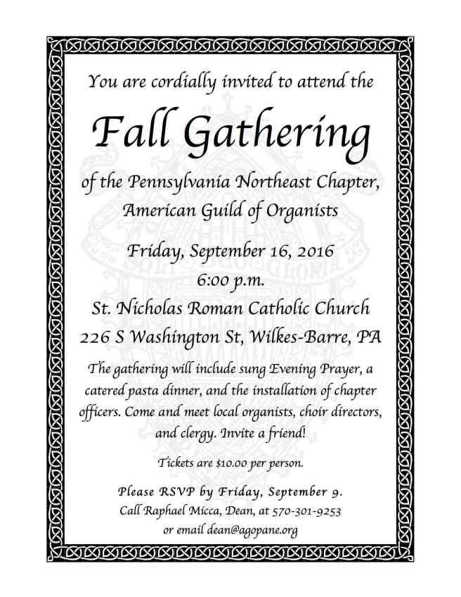 Fall Gathering 2016